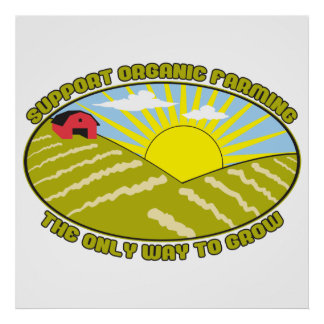 Support Organic Farming Poster