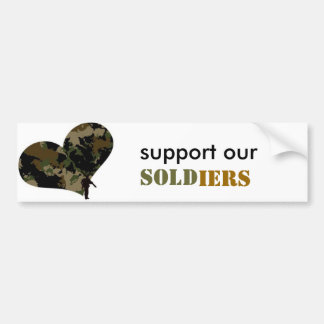 support our heroes bumper sticker