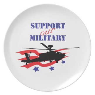 SUPPORT OUR MILITARY DINNER PLATE