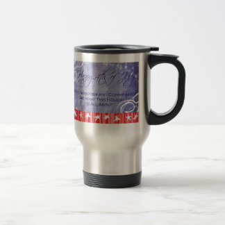 Support Our Troops 4th of July Mug