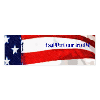 Support our troops American Flag Business Card Template