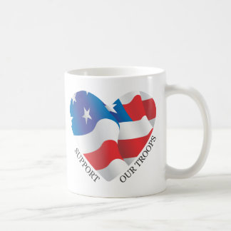 Support Our Troops American Flag Coffee Cup