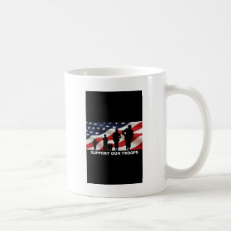 Support our troops army armed forces usa coffee mug