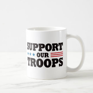 Support Our Troops - Black Coffee Mug
