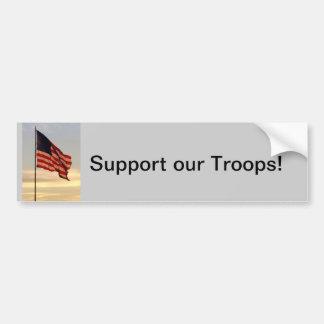 support our troops bumper sticker car bumper sticker