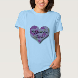 Support Our Troops Camouflage Heart T Shirts