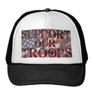 support our troops copy trucker hats