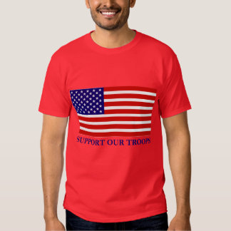 Support Our Troops Flag Mens T-shirt