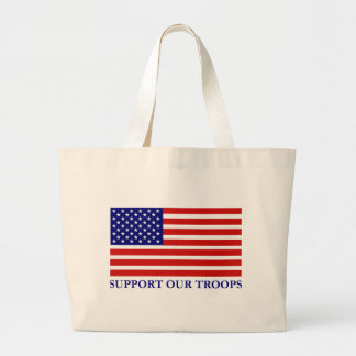 Support Our Troops Flag Tote Bag