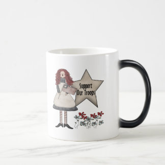 Support Our Troops Girls T-Shirts and Gifts Magic Mug