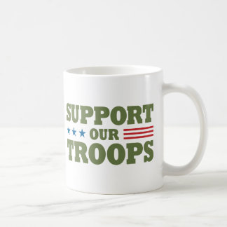 Support Our Troops - Green Coffee Mug