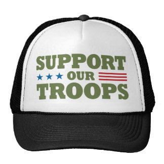Support Our Troops - Green Hats