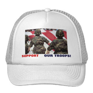 SUPPORT OUR TROOPS! MESH HATS