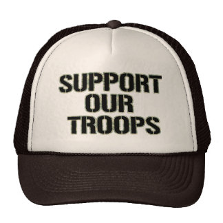 Support Our Troops Hat- Camoflauge Print Cap