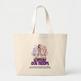 Support Our Troops! Jumbo Tote Bag