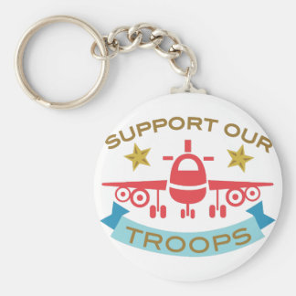 Support Our Troops Key Ring