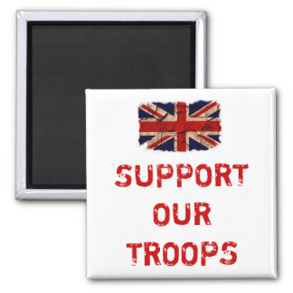 Support Our Troops Square Magnet
