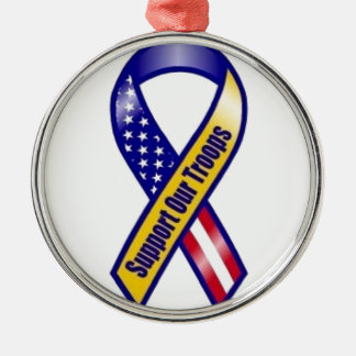 Support-Our-Troops Metal Ornament