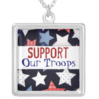Support Our Troops Necklace
