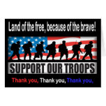 Support Our Troops Note Card