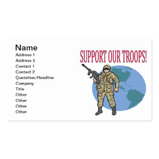 Support Our Troops Pack Of Standard Business Cards