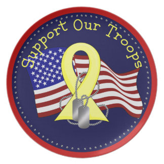 Support Our Troops Party Plates