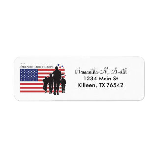 Support our troops Return Address Labels