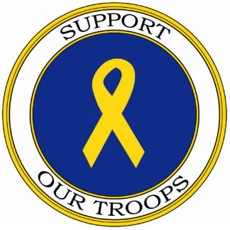 Support Our Troops Ribbon Photo Sculptures