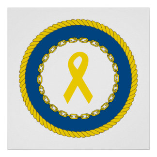 Support Our Troops Ribbon Print