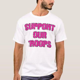 Support Our Troops Shirt- Zebra Print Tee