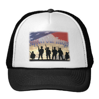 Support Our Troops Soldiers Mesh Hat