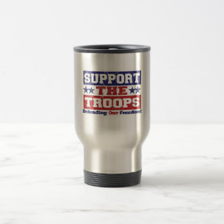 Support our Troops Stainless Steel Travel Mug