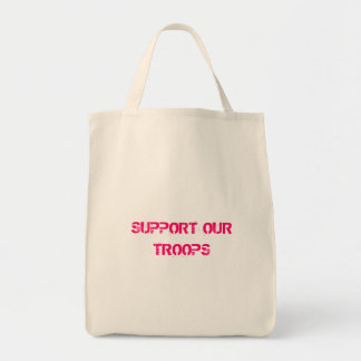 SUPPORT OUR TROOPS GROCERY TOTE BAG