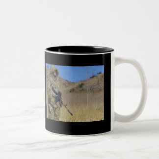 Support Our Troops Two-Tone Mug