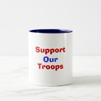Support , Our, Troops Two-Tone Mug