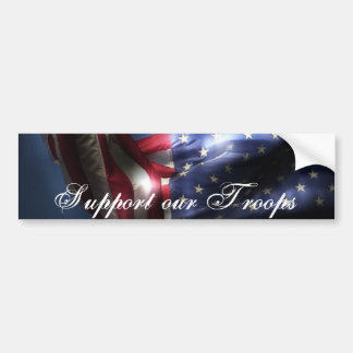 Support our Troops-U.S.A. Flag Bumper Sticker