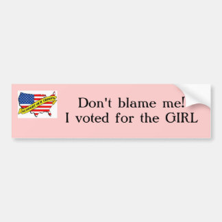 support our troops with usa, Don't blame me!I v... Bumper Sticker