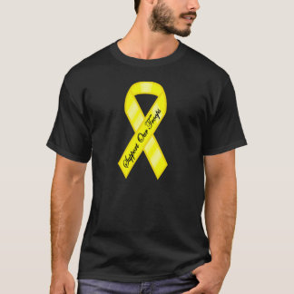 Support Our Troops Yellow Ribbon T-Shirt