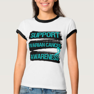 Support Ovarian Cancer Awareness Grunge T-Shirt