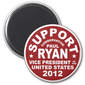 Support Paul Ryan Vice President Seal 6 Cm Round Magnet