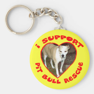 Support Pit Bull Rescue Keychain