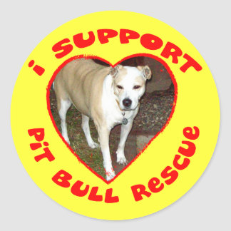 Support Pit Bull Rescue Sticker