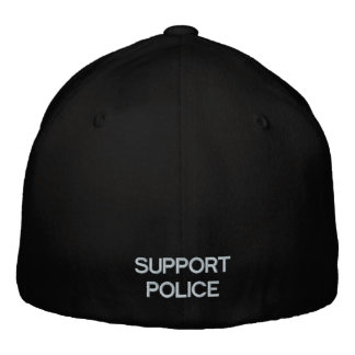 SUPPORT POLICE BASEBALL CAP by eZaZZleMan.com