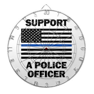 Support Police Officers Dartboard With Darts