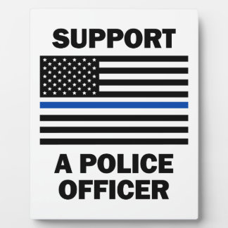 Support Police Officers Photo Plaque