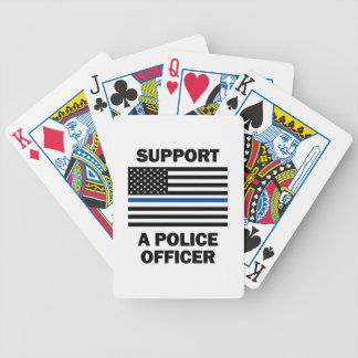 Support Police Officers Poker Deck