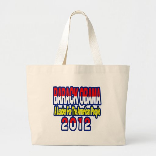 SUPPORT RE-ELECT OBAMA 2012 CANVAS BAG