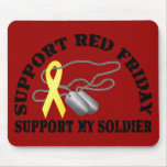 Support Red Friday, Support My Soldier Mouse Pad