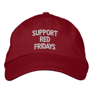 SUPPORT RED FRIDAYS EMBROIDERED HAT