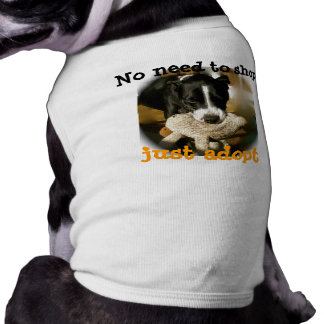 Support Rescue Pet  Animals Sleeveless Dog Shirt